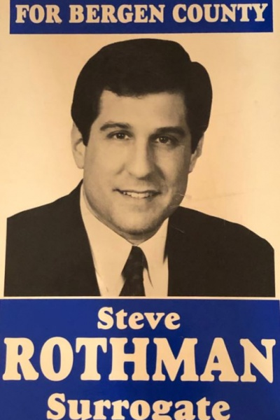 Steve Rothman's campaign sign for Bergen County Surrogate Election 1992